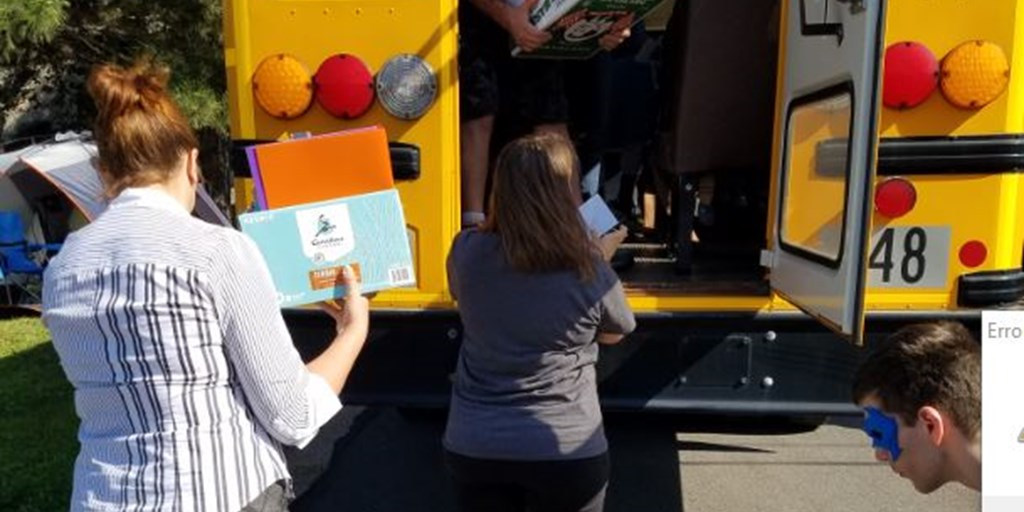 Court Employees Collect School Supplies